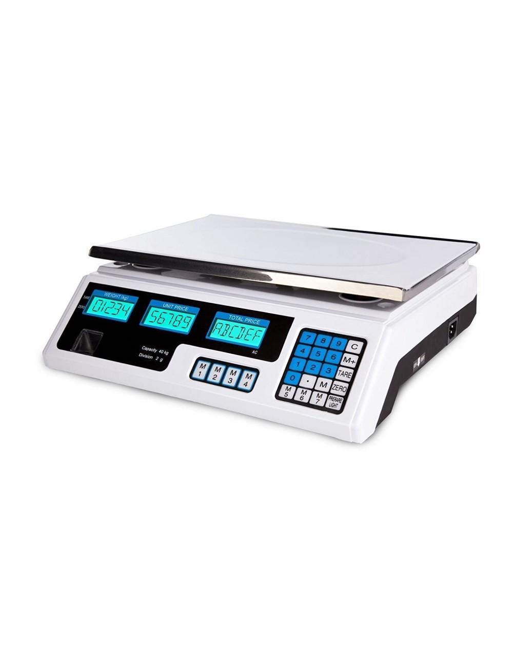 Bilancia Elettronica Digitale Professionale Da 5 Gr A 40 Kg Divisione 2 Gr