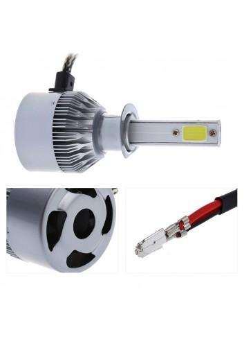 Coppia Lampade A Led Cob Da Auto Fari Lampadine H1 36w 3800 Lumens 6000k