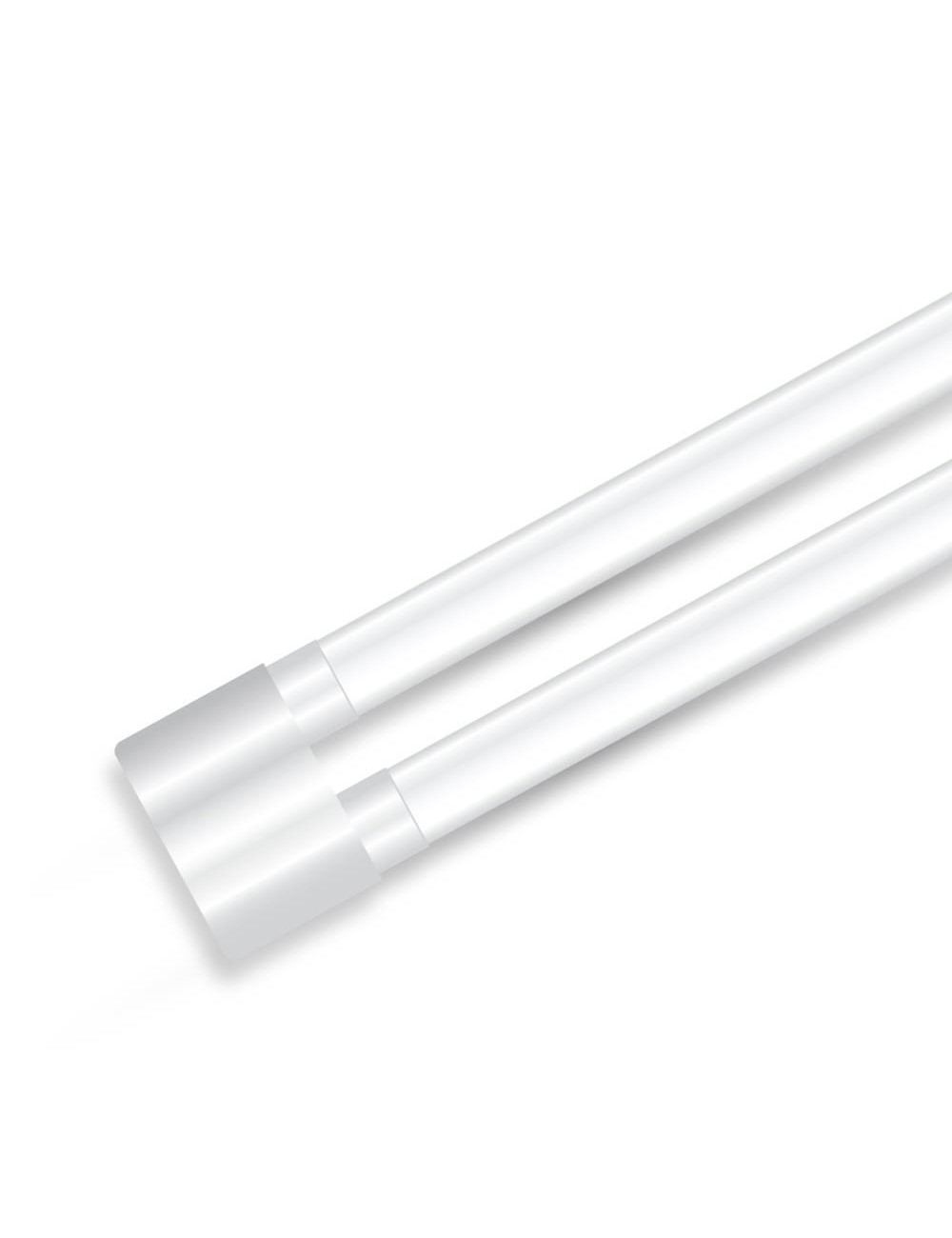 Tubo led doppio t8 nano plastic shoplite 36w 120cm g13 v for Tubi luminosi led