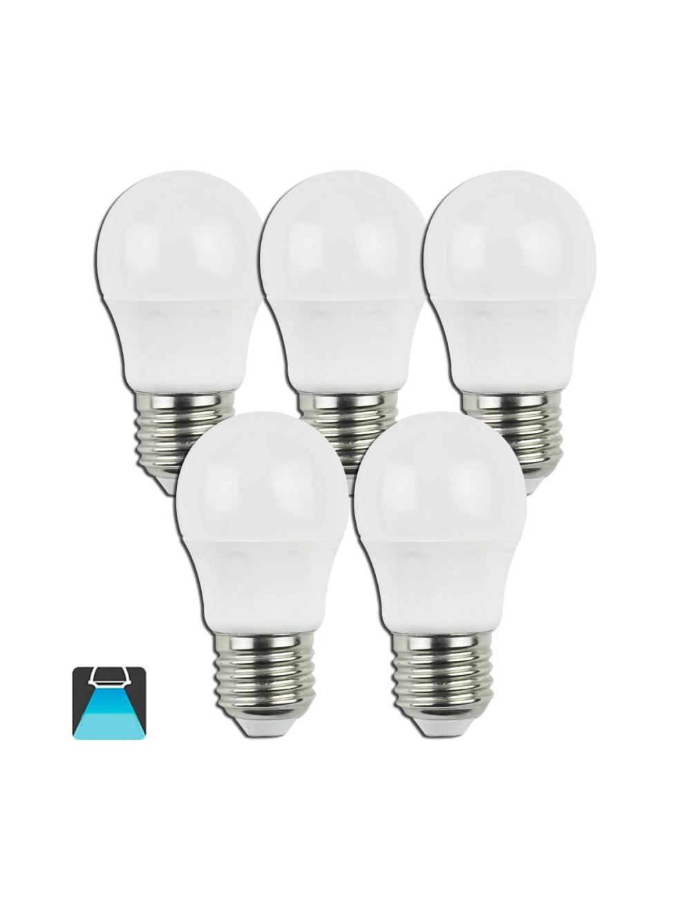 Lampadine led g45 pallina e27 5w 5 pz equivalenti a 45w for Lampadine led lumen