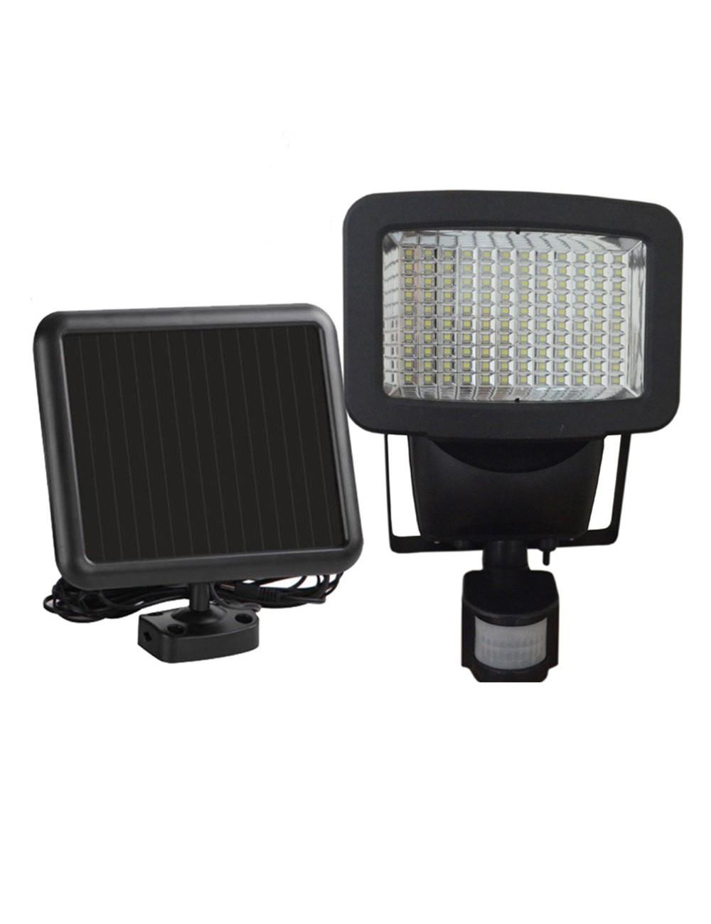 Faro con pannello solare con sensore di movimento 20w 120 for Led luce bianca